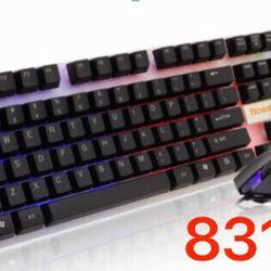 Combo Chuột Bàn phím USB có dây Bosston 8310 LED giá sỉ