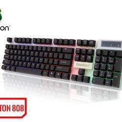 Bàn phím Keyboard Bosston 808 Giả cơ LED giá sỉ