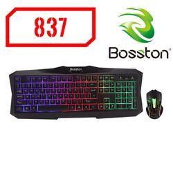 Combo Chuột Bàn phím USB có dậy Bosston LED Màu giá sỉ