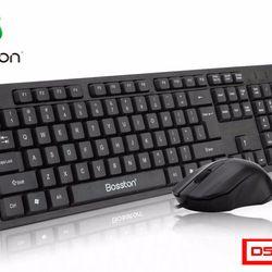 Combo Chuột Bàn phím USB có dây Bosston D5300 giá sỉ