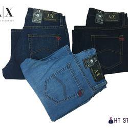 Quần short Jean A/X form chuẩn có thun