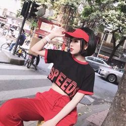 crop top in speeds tay ngắn giá sỉ