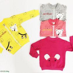 Áo khoác màu họa tiết gấu s1-8 giá sỉ