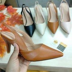Giày cao gót GN07 hậu min thun khoét kiểu giá sỉ