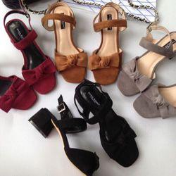 Giày sandal cao gót ST05 nơ quà giá sỉ