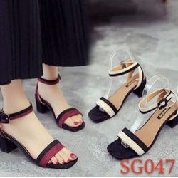 Giày sandal cao gót ST05 quai phối 2 màu giá sỉ