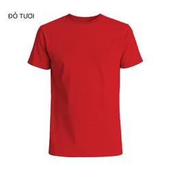 Áo thun cổ tròn thun trơn chỉ 20k áo đồng phục cotton 65/35 xưởng bán sỉ lớn nhất SG giá sỉ