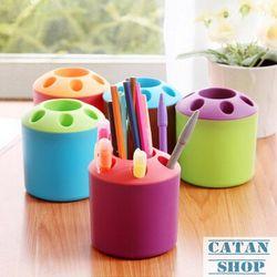 Lon đựng viết cốc đựng bút văn phòng phẩm bàn chài đánh răng nhiều màu sinh động GD35-LDV
