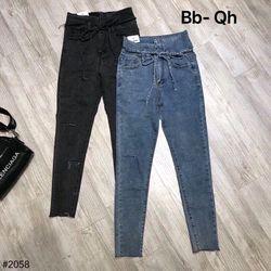 Quần dài jean lưng dây kéo nhí - QBG0408125 giá sỉ
