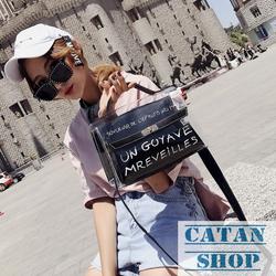 HOT DEAL Túi xách trong suốt 2 trong 1 kèm túi nhỏ cực xinh túi đi biển đi mưa mua sắm du lịch hàng Quảng Châu giá sỉ, giá bán buôn