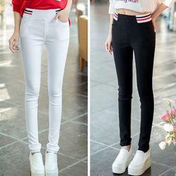 Quần legging nữ thời Hàn Quốc trang sọc ngang eo độc đáo 110 - 91110 giá sỉ