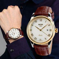 Đồng hồ nam dây da mặt xi chống rỉ có lịch ngày-315 - 97315-nam giá sỉ