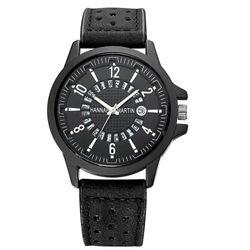 Đồng hồ nam dây da xịn cá tính có lịch ngày mặt chóng rỉ-309 - 97309 giá sỉ
