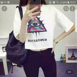 Áo thun croptop nữ giá sỉ