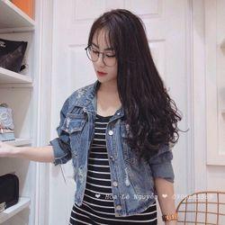 Áo khoát jean nữ ms020 giá sỉ