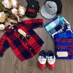 áo sơmi ka-te sọc bé trai có sẵn - ABT0148070 giá sỉ
