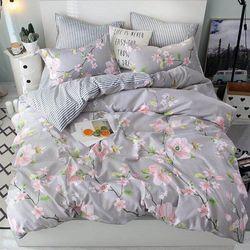 Set chăn ga cotton korea A08 giá sỉ