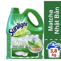nước rửa chén sunlight 4kg trà xanh giá sỉ