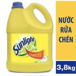 nước rửa chén sunlight chanh 4kg giá sỉ