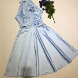Đầm hoa cổ yếm giá sỉ