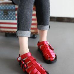 Sandal xịn Nam Nữ đỏ đẹp giá sỉ