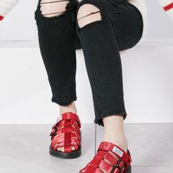 Sandal xịn Nam Nữ đỏ đẹp giá sỉ, giá bán buôn