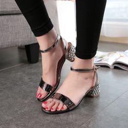 Sandal quai ngang gót cách điệu - MSSD425