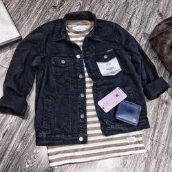 jacket jeans PULL - BEAR - giá sỉ