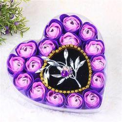 hoa sáp hộp trái tim