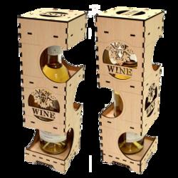 Hộp rượu vang trang trí jonnydecor c223 giá sỉ