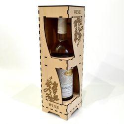 Hộp rượu vang trang trí jonnydecor q4 giá sỉ