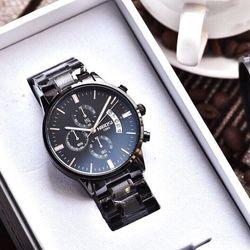 đồng hồ nam dây inox đặt- giá sỉ