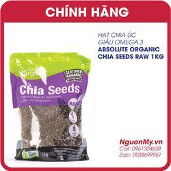 Hạt chia Absolute Organic Chia Seeds của Úc 1kg của Úc Date 8/2019
