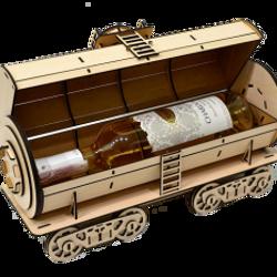 Hộp rượu hình xe lửa lắp ráp giá sỉ