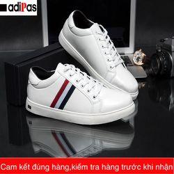 Giày trắng nam họa tiết- giày sneaker nam 2018 giá sỉ