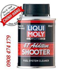 Chai phụ gia Cacbon pha xăng vệ sinh súc rửa béc xăng Liqui Moly 4T AddtitveShooter80 ML giá sỉ