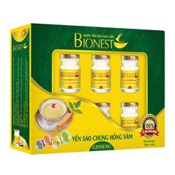 Yến sào Bionest Ginseng hồng sâm - hộp quà tặng 6lọ giá sỉ