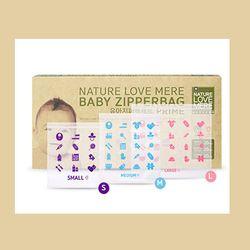 Túi Zipper set đủ 3 size SML Nature Love Mere Hàn Quốc mỗi size 20 cái