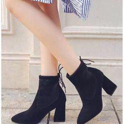 giày bot nữ góc vuông giá sỉ