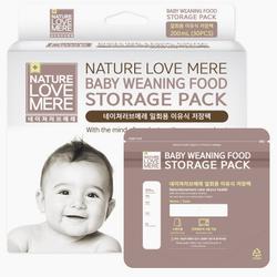 Túi dự trữ thực phẩm cho bé 200ml 30 cái Nature Love Mere Hàn Quốc