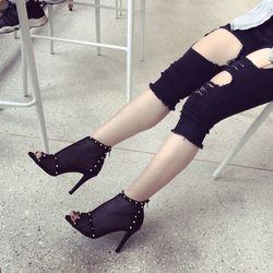 giày bot nữ lưới gót nhọn giá sỉ