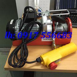 Tời điện mini PA400 tải trọng nâng được từ 100kg 200kg 300kg 400kg chiều cao nâng 20m dùng điện dân dụng 220v giá sỉ