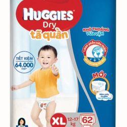 Tã quần Huggies size XL62 đệm mây co giãn giá sỉ