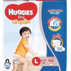 Tã quần Huggies size L68 đệm mây co giãn giá sỉ