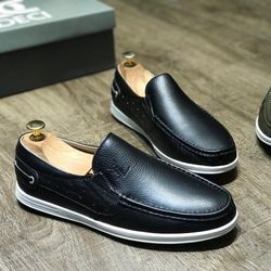 giày mọi da bò nguyên tấm 100 da mền co giãn tốt đi cực kỳ êm chân giá sỉ