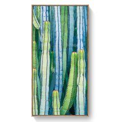 Tranh treo tường tranh xương rồng đẹp khung tranh-GHS-6389-40x80-không viền giá sỉ, giá bán buôn