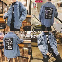 áo khoác jeans bò thời trang UniSex hai day kéo taY giá sỉ