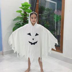 bộ ma trắng trẻ em halloween giá sỉ