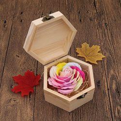 Quà tặng bông sáp hộp gỗ giá sỉ
