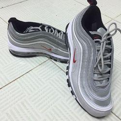 Giày Sneaker nam thể thao NK màu xám bạc GSK0001 dư xịn giá sỉ